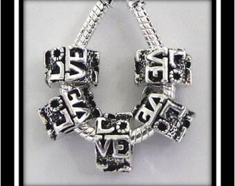 LOVE Charm- Fits European Style Bracelets