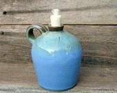 Coastal Resort Hand Thrown Pottery Oil Burner - Outdoor Living and Home Decor - Blue - Aqua