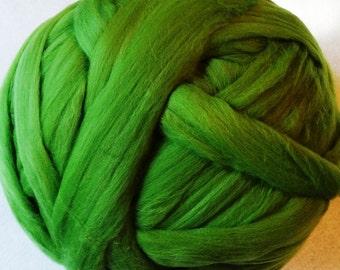 Roving Merino Wool for Spinning or Felting - Kiwi - 8 oz - green roving, merino roving, roving, wool roving