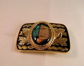 The Clue Dichroic Fused Glass Belt Buckle, GB19411 style