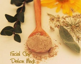 Herbal Facial Care Detox Mask - Vegan Facial Clay mask - SAMPLE trial size