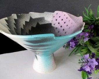 CAROLINE KOONS Pedestal Bowl - Art Pottery - SIGNED