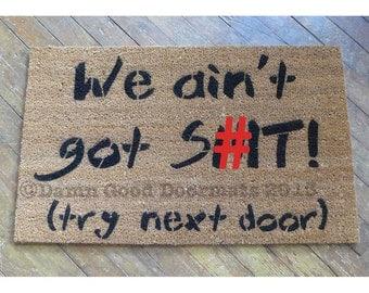 Dead inside zombie doormat by damngooddoormats on etsy - Offensive doormats ...