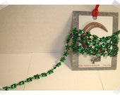 Star Garland- Two Colors to pick from- green OR red OR Both*/Tiny Size/ Craft Supplies*