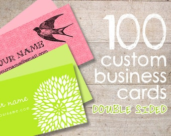 Business Cards - Custom Business Cards - Jewelry Cards - Earring Cards - Display Cards - QTY 100 - DOUBLE SIDED