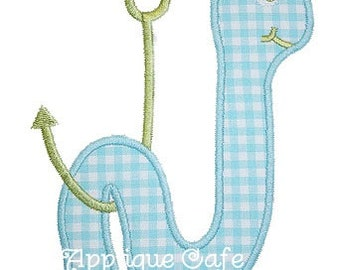 151 Worm on a Hook Machine Embroidery Applique Design