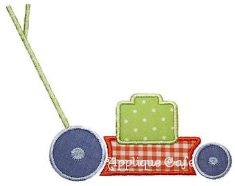 148 Lawnmower Machine Embroidery Applique Design