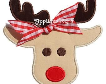 198 Rudolph 2 Machine Embroidery Applique Design