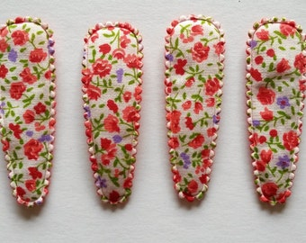 25  pcs - Red Blossom Flower Hair Clip COVERS - size 55 mm