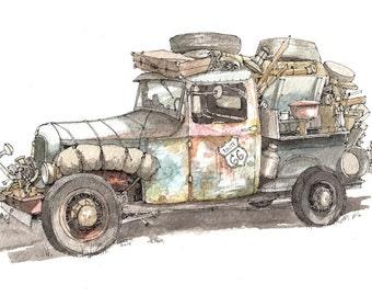 Dustbowl Truck print