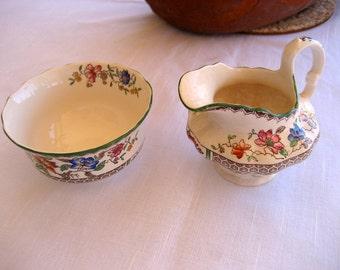 Copeland Spode  Cream and Sugar Set    Chinese Rose   England