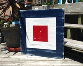 Nautical Code Flag - ONE- VERY Large 24x24 Choose Your Letter Beach and Coastal Decor