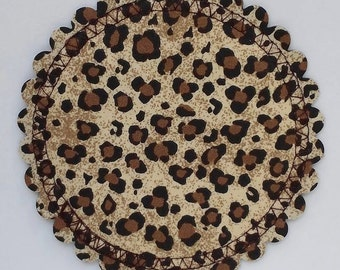 HIP HOOTERS...cheetah...leopard...breast feeding...nursing pads w/ PUL...washable...organic cotton and bamboo...ecofriendly...in 'Fast Food'