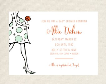 Baby Shower Invite, Mom To Be Lollipop