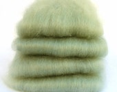 Wensleydale Herb Green Spinning Batts - 4 ounces