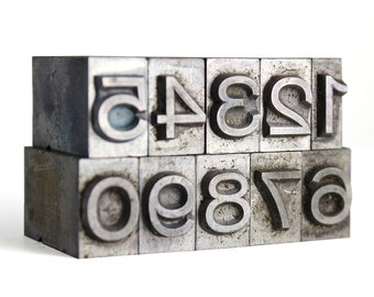 NUMBERS - 36pt Metal Letterpress