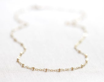 Gold Satellite Necklace | 14kt Gold Filled or Sterling Silver | Dainty Layering Necklace