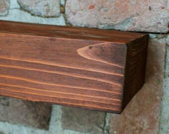 Wood Shelf - 33 Inch - Floating Wall Shelf - Farmhouse Chic - Shelves - Old Wooden Shelving