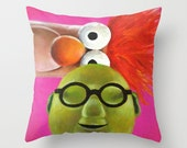 Fan Art The Muppets Inspired Bunsen and Beaker Throw Pillow Cover MADE to ORDER Science