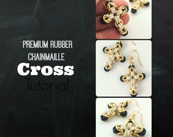 Rubber and Metal Chainmaille Cross Tutorial - Expert PDF
