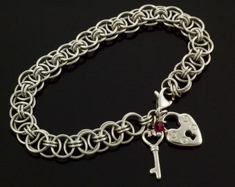 SALE My First Stainless Steel Sweet Success Chainmaille Bracelet KIT - Perfect for Beginners - Fun For Experienced Jewelry Makers