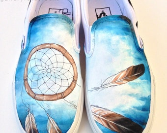 Custom Vans Shoes -- Dream Catcher