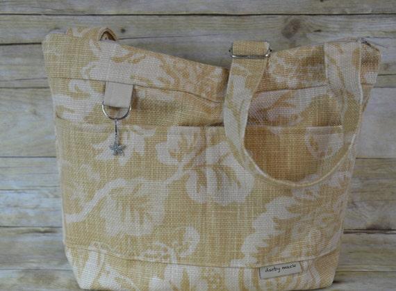 Camera bag decor burlap in natural rustic vintage island for Decorative burlap bags