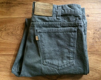 Vintage Men's 80's Levi's Jeans 540, Grey, Denim (W36 x L30)