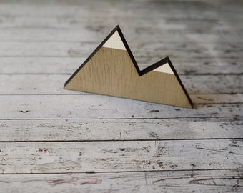 Wooden Laser Cut Shapes of The Mountain Peaks