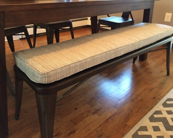 Custom Sewn Window Seat Cushion With Cording   You Choose The Fabric Bench    Banquette