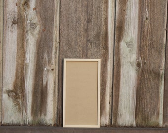 "SMALL Handmade CEDAR FRAME - Fits letterpress moon calendars/ broadside prints 8""X15"""