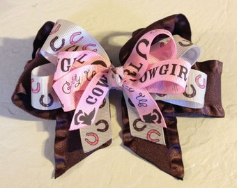 Giddy Up Cowgirl Boutique Hair Bow