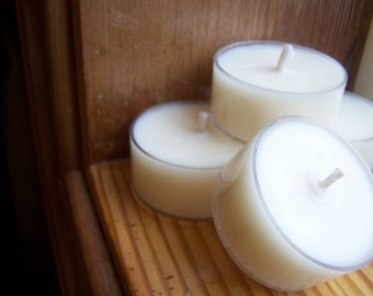 Soy Wax Candle Tealights. Set of 4.