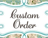 Custom Order for Jennifer. Please do not purchase unless you are her. Teal angel wings & Peacock Rosette Headband