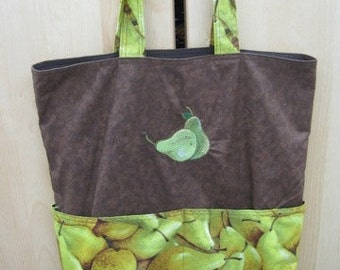 What a Pear Pair Pears Reversable Eco Tote Shopping Bag