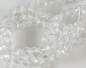 Clear Crystal Faceted Beads 60% off, qty 64
