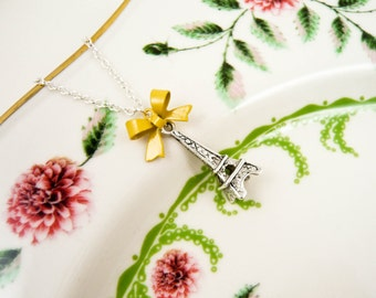 Eiffel Tower Necklace - Yellow