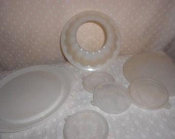 Tupperware Jello Bowl and Plate /4 designs