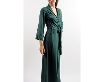 on Sale and Ready to Ship color Blue womens long robe - GEM bamboo sleepwear range