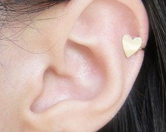 Gold Filled Heart Ear Cuff