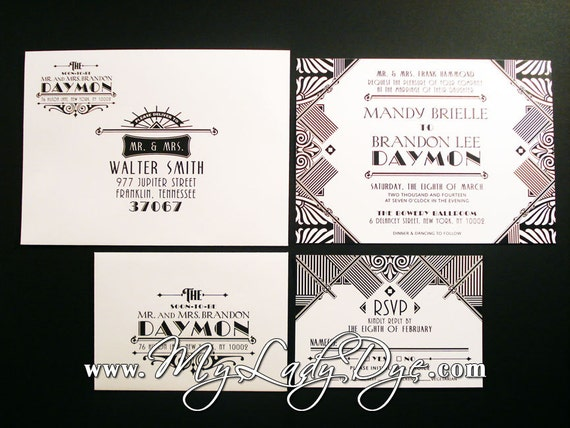 Great Gatsby Wedding Invitation: Great Gatsby Party Invitation Wording