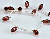 Sale -Rubilite  Garnet Chandelier Briolettes AAA Garnet Briolette Gemstone Beads  Micro Faceted