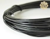 30ft 12ga Aluminum Craft Wire - 12 gauge, 9.2m, wire wrapping, jewelry, crafts, floral designs - BLACK