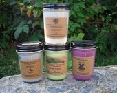 Halloween Gift Set.  Four 8 oz  Pure Soy Candle - Choose From Any Of My Halloween Scents from Covington Creek Candle Company
