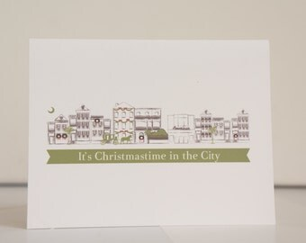Christmas Card Charleston Houses Christmas Card Stationery Set