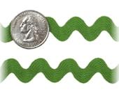 9 MM Ric Rac Trim Ribbon---3 Yards---Apple Green