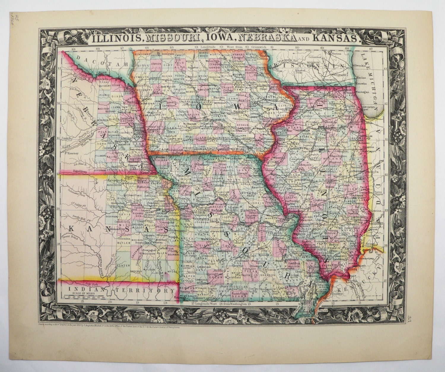 brilliant iowa missouri map