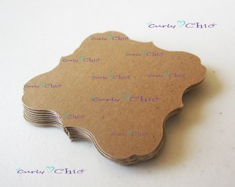 "36 Square Bracket Tags Size 3"" -Square Bracket Labels -Bracket paper die cuts -Bracket cardstock labels -Paper Bracket tags"