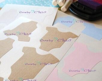 Baby Onesie Stickers -Sticker Labels in Blank -Baby Bodysuit Stickers -Baby Shower Labels -Baby Shirt Stickers -Custom Baby Shirt labels