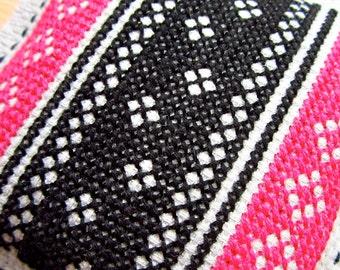 Black, Grey, Pink Lavender & Chamomile Cross Stitch Scented Sachet Drawer Closet Freshener